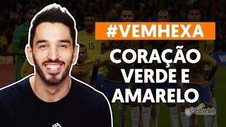 CORAÇÃO VERDE E AMARELO #vemhexa
