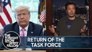 Trump's Coronavirus Press Briefings Are Back | TheTonightShow