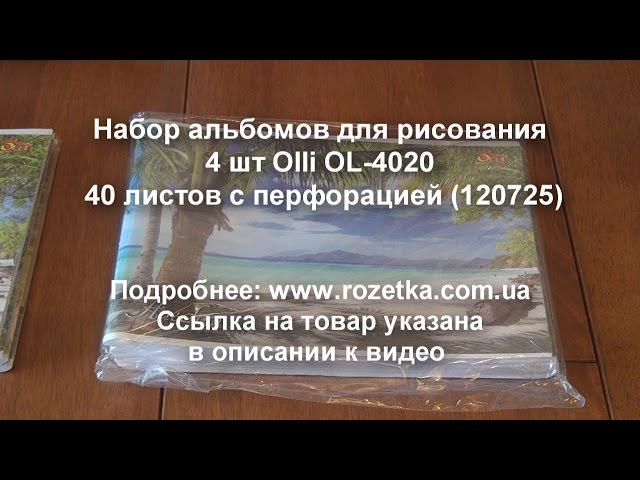 Набор альбомов для рисования 4 шт Olli OL 4020 40 листов с перфорацией 120725