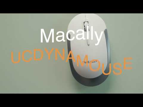 Macally USB-C Optical Quiet Click Mouse for Mac/PC UCDYNAMOUSE