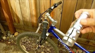 Raise the bike handle bar with a cheap eBay kit. Installation how to