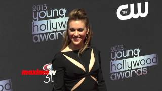 Alyssa Milano in Black Trouser Suit 2013 Young Hollywood Awards