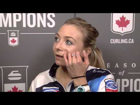 2016 Ford World Women's Curling Championship - Media Scrum - Draw 7