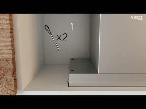 Elica Chimney Hood HIDDEN-120 - White Glass / Stainless Steel Video 2