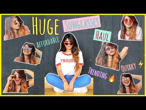 HUGE AFFORDABLE AND TRENDY SUNGLASSES HAUL | SUNGLASSES TREND 2018| MUST HAVE SUNGLASSES |