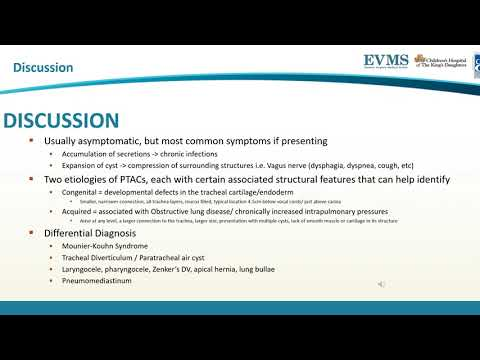 Thumbnail image of video presentation for Incidental Finding of Subcarinal Air Cyst or Tracheobronchial Diverticulum
