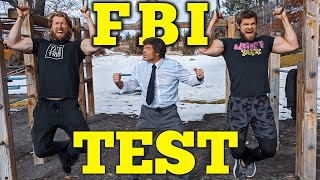 62 YEAR OLD MAN & Sons Try The FBI Fitness Test Challenge