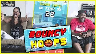 HITTING FROM DEEP ON A THREE INCH SCREEN!!- Bouncy Hoops | Mobile Series Ep.28