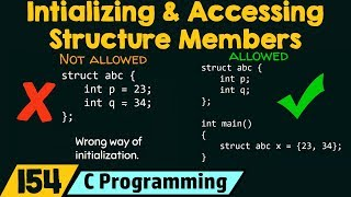 Initializing & Accessing the Structure Members