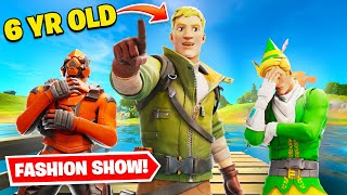 Fortnite Fashion Show... But The Judge Is 6yrs Old! ft. Lachlan!