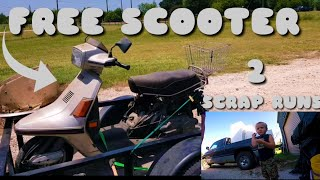 FREE Scooter | 2 Scrap Runs | Donuts!! | Dumpster Diving
