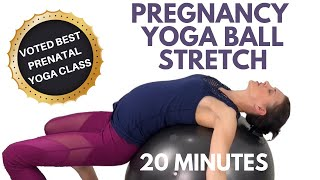 Pregnancy Yoga Ball Stretches