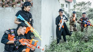 LTT Nerf War : Couple SEAL X Warriors Nerf Guns Fight Criminal Group Dr.Lee Crazy High-Tech Weapons