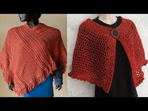 Poncho Para Mujer Tejido en Crochet