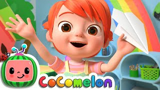 YoYo's Arts & Crafts Time: Paper Airplanes   CoComelon Nursery Rhymes & Kids Songs