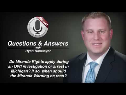 video thumbnail Miranda Rights Apply During Michigan OWI Arrest