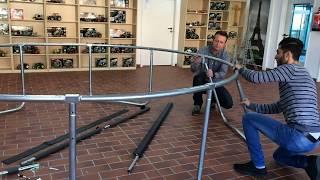 305 cm Trampolin - Artikel 73810 - Aufbau des Trampolins - Izzy Sport - Modell 2017