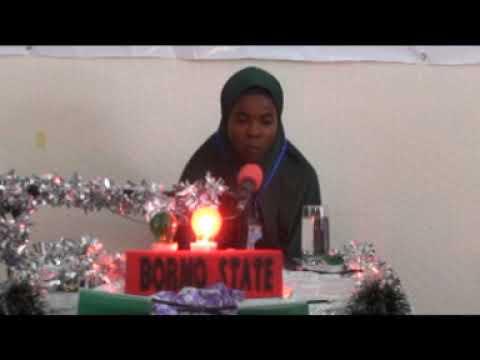2014 Nigerian Musabaqa: Borno State 60 Hizb Female Participant