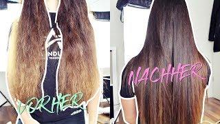 KERATIN HAARGLÄTTUNG selber machen | Glatte Haare für 3 MONATE! + kaputte Haare reparieren