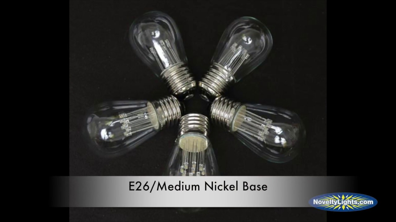 Picture of Pure White S14 LED Medium Base e26 Bulbs w/ 9 LEDs - 5pk