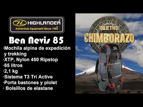 Highlander Ben Nevis 85 La mochila de Objetivo Chimborazo