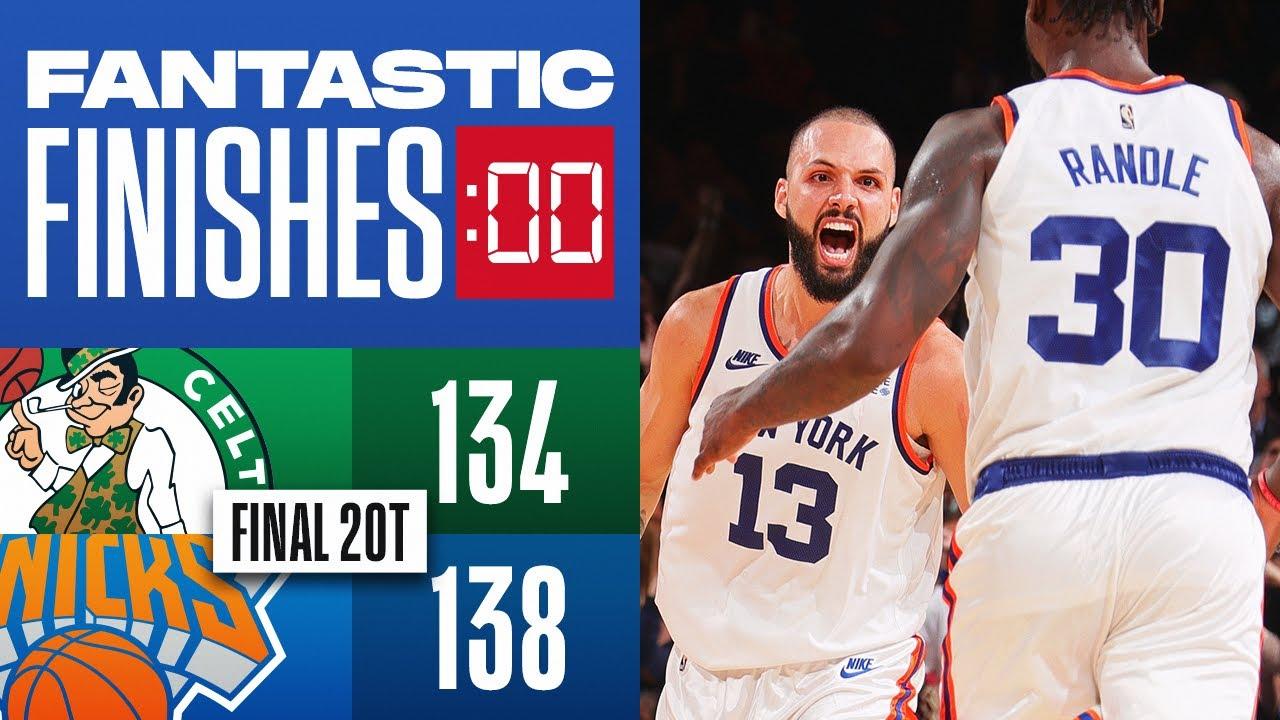 Final MINUTE of 4th & 2OT in Celtics vs Knicks THRILLER!