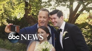 Tom Hanks Crashes Newlyweds Photo Shoot In Central Park