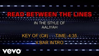 Aaliyah - Read Between The Lines (Karaoke)
