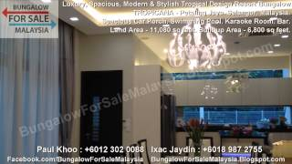 preview picture of video 'BUNGALOW FOR SALE - Tropical Design Resort Bungalow - Tropicana - Petaling Jaya. Selangor. Malaysia.'