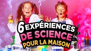 6 EXPERIENCES FOLLES de SCIENCE A FAIRE à la MAISON