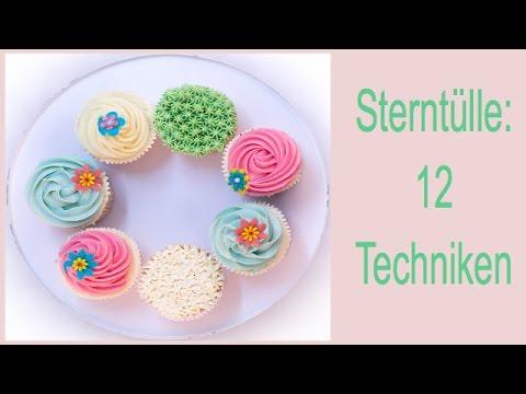 Sterntülle: 12 verschiedene Cupcakes mit 4 Profi-Spritztechniken