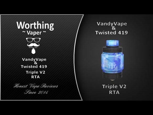 Triple V2 RTA by Vandy Vape designed by Twisted 419