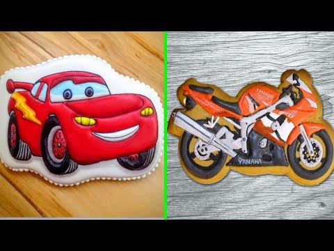 Top 6 Easy Cookies Decorating Ideas With Vehicle - Sugar Cookies Decorating 2018