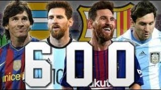 Messi: 600 goles con relatos