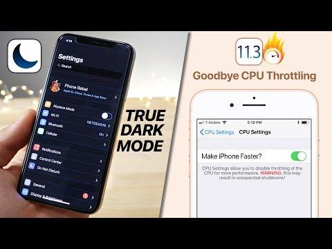 iPhone X Dark Mode Tweak! iOS 11.3 CPU Throttling Toggle & 11.2.2 Jailbreak!?