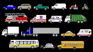 Street Vehicles - Cars and Trucks - The Kids' Picture Show (Fun & Educational Learning Video)