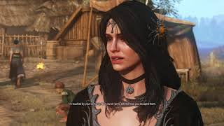 The Witcher Yennefer with Black DLC Dress of Triss.