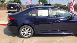 2020 TOYOTA Corolla LE Package In Blueprint With Light Gray Interior At Toyota Of Mckinney