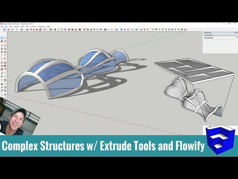 Modeling Complex Structures in SketchUp with Extrude Tools and Flowify! -  Музыка для Машины