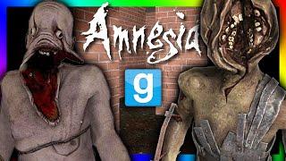 AMNESIA NIGHTMARE MAZE?!?!   Gmod Horror Maze Challenge (Amnesia Monsters)