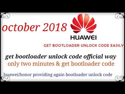 new way to get bootloader unlocking code huawei 2018 oct must watch