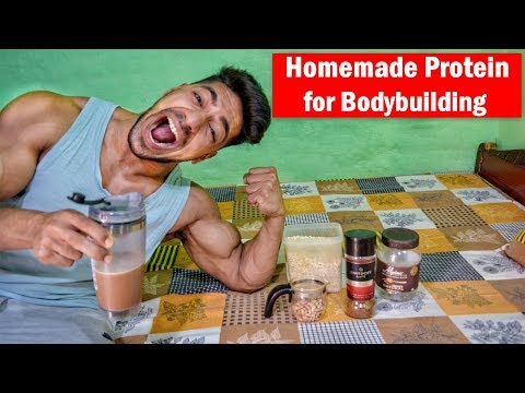 HOMEMADE PROTEIN SHAKE/POWDER for bodybuilding | No Supplements (The Truth)