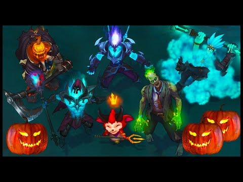 All Halloween Skins Spotlight Death Sworn Underworld Zombie Bewitching (League of Legends)