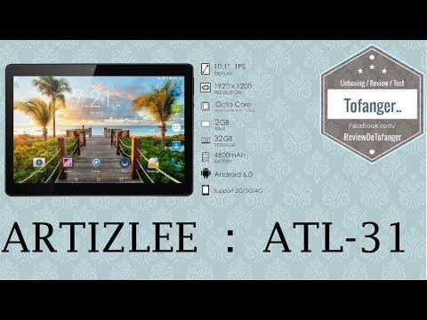 Artizlee ATL31 : Tablette 4G 10 Pouces
