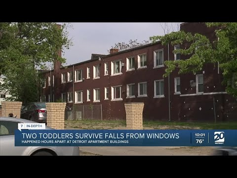 2 toddlers hospitalized after falling out of windows in separate Detroit apartment buildings