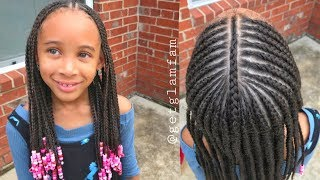 Cute Kids Braids With Beads