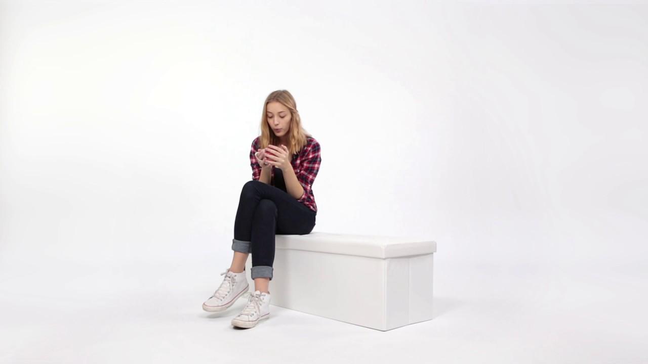 Video von: Faltbare Sitzbank aus Kunstleder