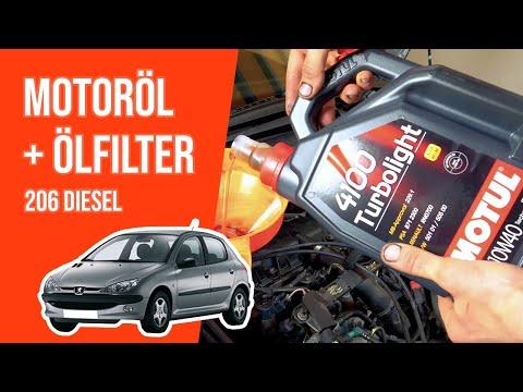 Wie 206 2.0 HDI Motoröl und Ölfilter wechseln 🛢
