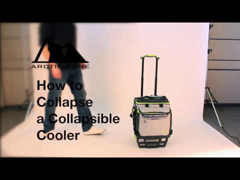 How to Collapse a Titan Deep Freeze® 60 can Rolling Cooler with A.T. Cart™