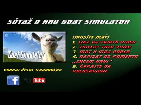 Súťaž O Hru GOAT SIMULATOR !!!!! [CZ&SK]